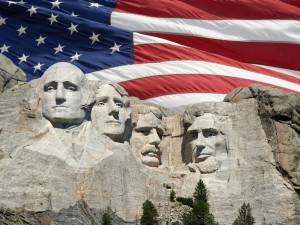 Mount-Rushmore-with-American-Flag-Background